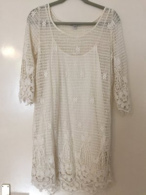 Sommerkleid von American Eagle Outfitters, Creme, Gr. M