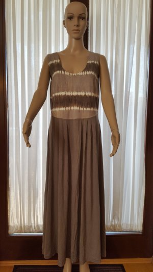Best Connections Maxi Dress grey brown-natural white cotton