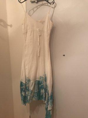 Sommerkleid von Esprit in Grösse 34, weiss und türkis