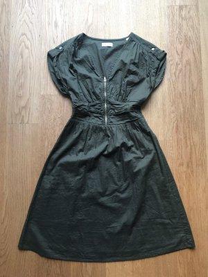 Sommerkleid von Esprit Khaki mit Reißverschluss vorne, Größe 36