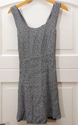 Mini Dress white-black cotton