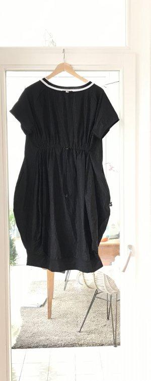 High Moda negro-color plata poliamida