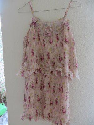 Babydoll-jurk stoffig roze Polyester