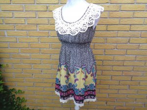 Kanten jurk veelkleurig Katoen