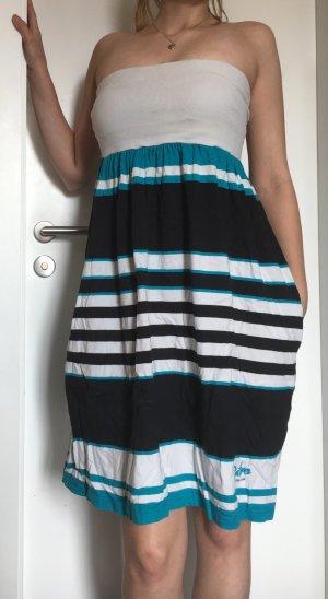 Vestido de un hombro multicolor
