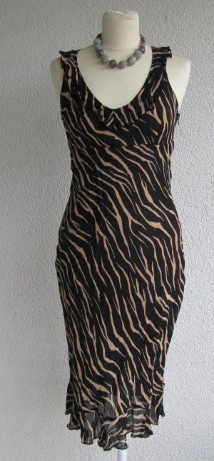 Xanaka Pinafore dress black-yellow viscose