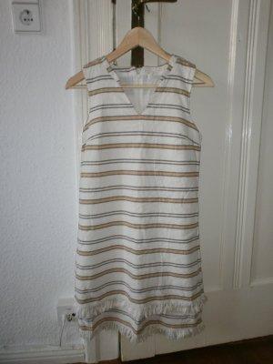 A-lijn jurk room-beige Katoen