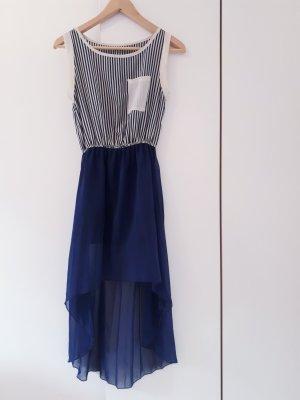 Zara Off the shoulder jurk wit-donkerblauw