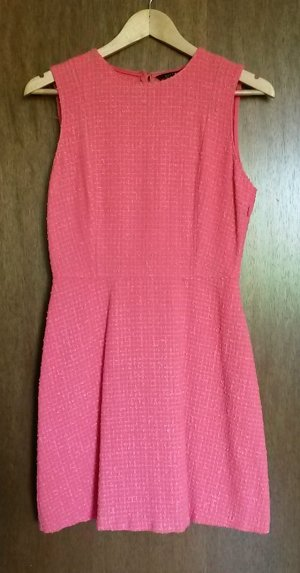 Zara Woman Robe fourreau rose-saumon