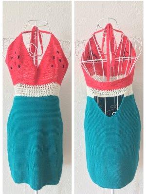 Sommerkleid Wassermelone - Häkelspitze rückenfrei