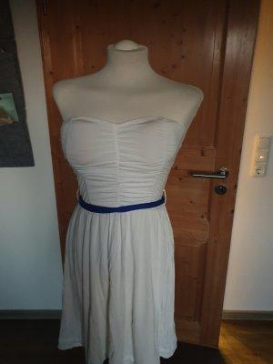 Sommerkleid weiß/blau