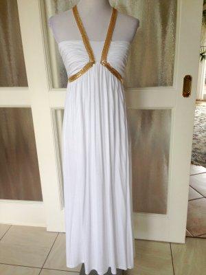 Sommerkleid weiß / Gold