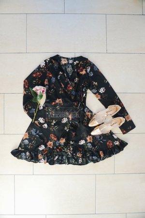 Sommerkleid Wickelkleid mit Blümchen