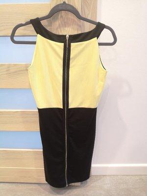 Sommerkleid XS neu mohito schwarz gelb mit Reißverschluss
