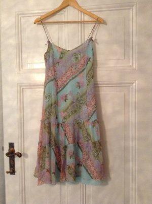 Sommerkleidchen mit Crasheffekt und Strass, süss!! Mit Seide verarbeitet u.a.!