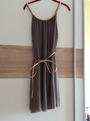 Robe à bretelles doré-gris brun
