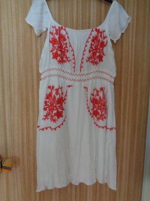 Asos Robe Babydoll blanc-rouge