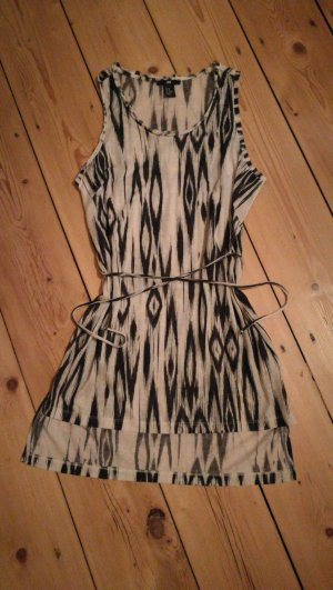 H&M Strandjurk wit-zwart