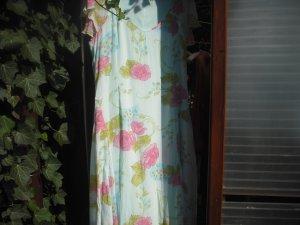 Robe trapèze turquoise-rose viscose