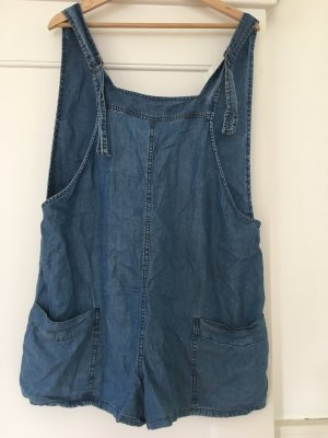 Mango Jeans Peto azul oscuro tejido mezclado