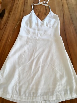 Noa Noa Vestido de cuello Halter blanco Lino