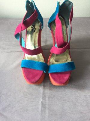 Sommerlich bunte Keilabsatz Schuhe