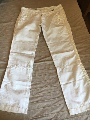 Diesel Pantalone cargo bianco sporco