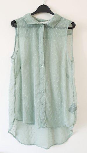 Sommerlich-leichte türkis gemusterte Bluse