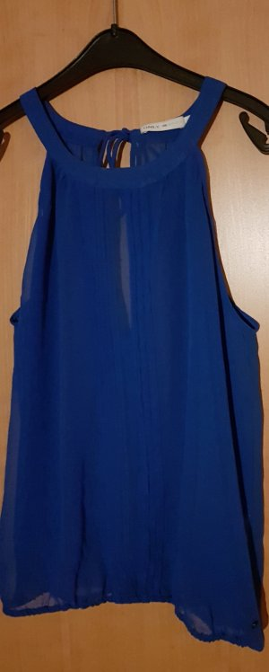 Only Top cut out azul-azul acero