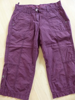 s.Oliver 3/4 Length Trousers purple cotton