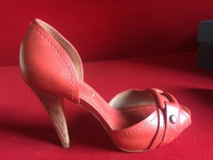 Sommerliche BCBG Maxazria Pumps (hell) rot/pink Gr.37 NP 220 Euro