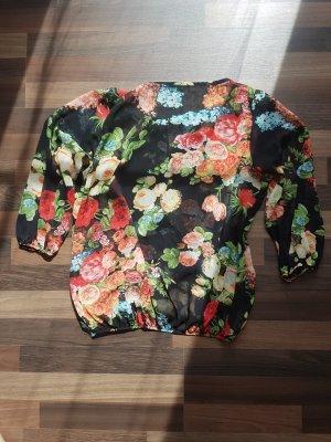 Amisu Blouse transparente multicolore