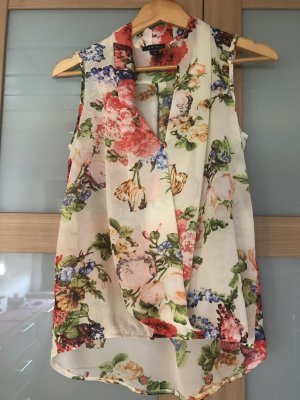 Amisu Mouwloze blouse veelkleurig