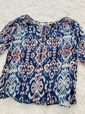 Amisu Blusa de manga larga rosa-azul aciano