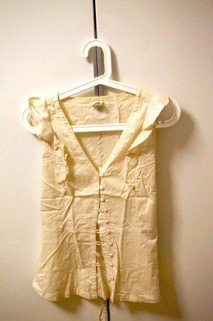 sommerliche Bluse mit Knopfleiste und Gürtel