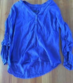 Sommerliche Bluse mit rosé-goldenen Details Zara