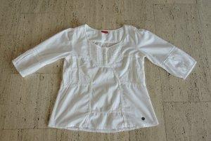 Sommerliche Bluse mit Stickereien, Größe 42, neuwertig