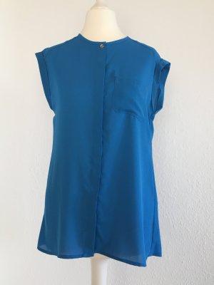 Sommerliche Bluse Stahlblau