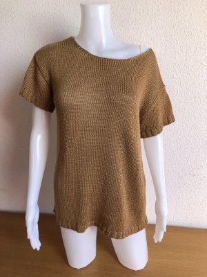 Short Sleeve Sweater brown-light brown