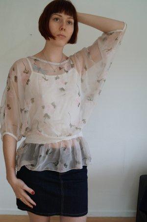 sommerliche Bluse + Top mit Spitze