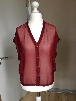 Sommerliche Bluse Vintage Blogger Bordeaux Atmosphere Gr 40 / L wie NEU