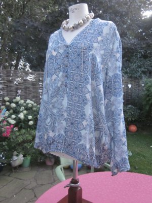 "Sommerliche Bluse von ""Cartoon"", blauer Allover print"