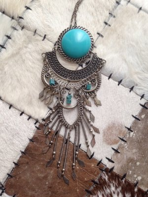 Sommerliche Boho-Princess Kette in silber