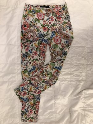 Zara High Waist Trousers multicolored