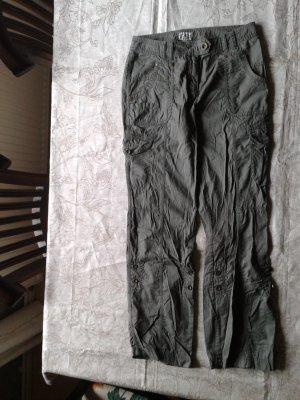 Tom Tailor Cargo Pants green grey cotton