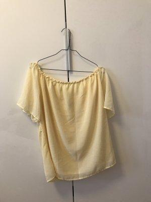 Sommerliche Carmen Bluse in gelb
