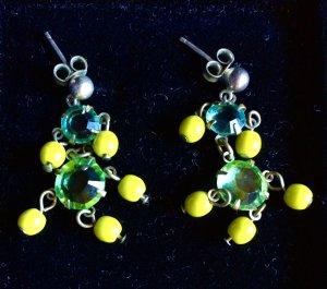 Sommerliche grüne Ohrringe - Konplott