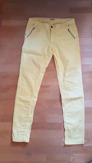 Laura Torelli Pantalone cinque tasche giallo pallido