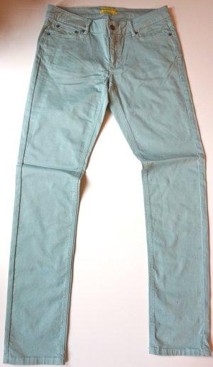 Pantalon cinq poches bleu clair coton