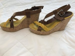 Vera Pelle Wedge Sandals multicolored